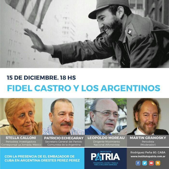 15 de diciembre a las 18 fidel castro y los argentinos