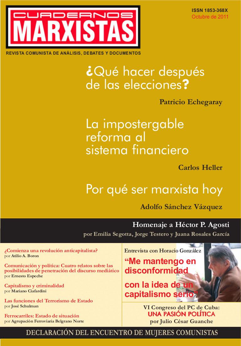 Tapa Cuadernos Marxistas n° 3