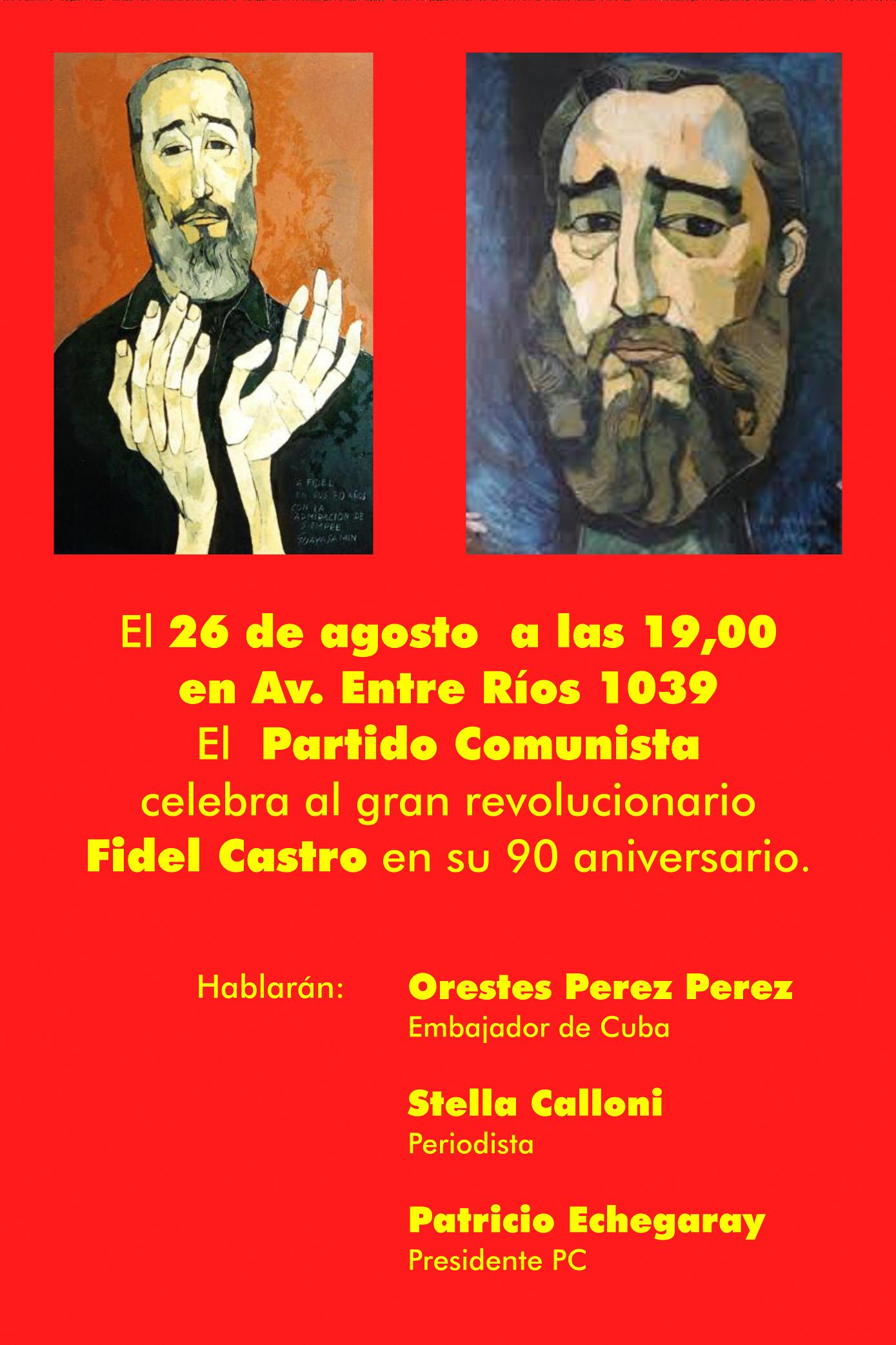 90 aniversario de Fidel